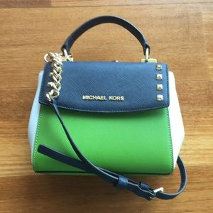 Michael Kors Karla Navy/Green Mini crossbody